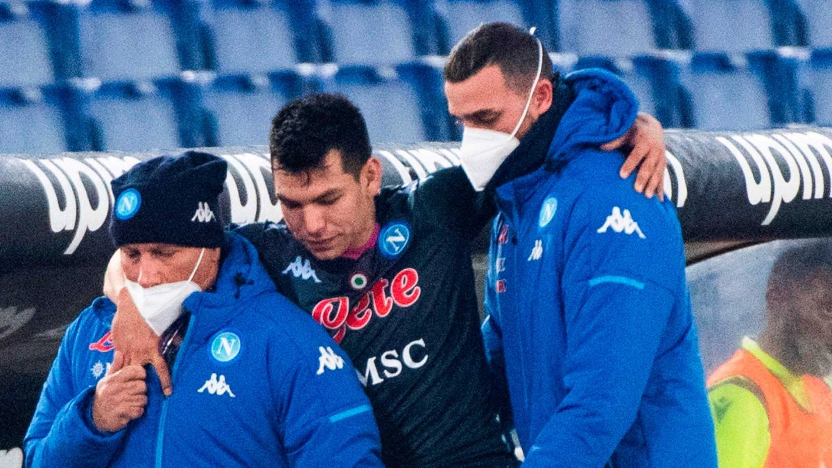 "Alert in Naples: ""Chucky"" Lozano was injured and with help in the defeat against Lazio 