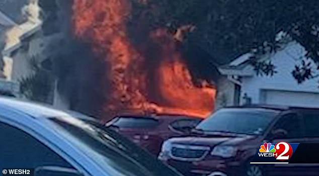 Amazon delivery driver, 23, drops his packages and runs save elderly man from burning Florida home