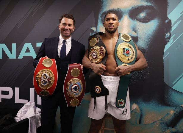 Joshua could vacate the WBO belt if required