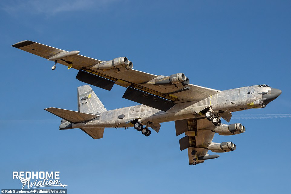 B-52H bomber named 'Wise Guy' flies again after being rescued from Arizona's 'Boneyard'