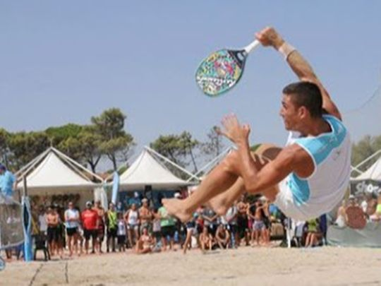 Beach tennis takes off in the UAE