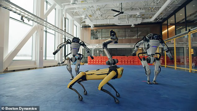 Boston Dynamics' robots twist and mash potato as they dance to The Contour's 'Do You Love Me'
