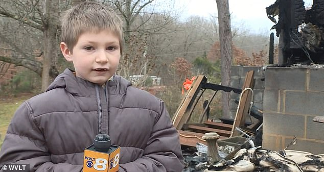 Boy, 7, hailed hero after rushing back into burning family home through a window to save baby sister