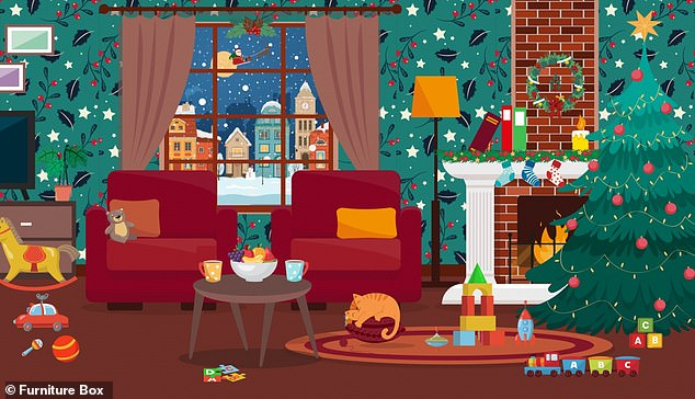 Brainteaser challenges puzzlers to spot all the Christmas presents hidden in the festive scene
