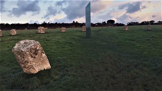 Britain's FOURTH monolith appears inside a Cornish stone circle