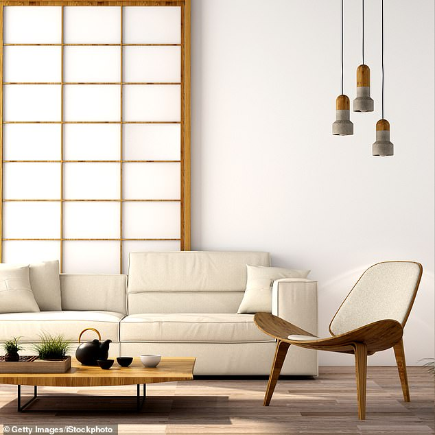 Serene: A contemporary Japanese-style sitting room. The country's influence can be seen most clearly in the clean, elegant and functional everyday products we use in our homes