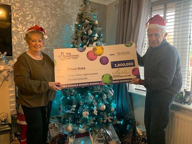 British grandmother, 70, scoops £3.8million lottery jackpot just before Christmas