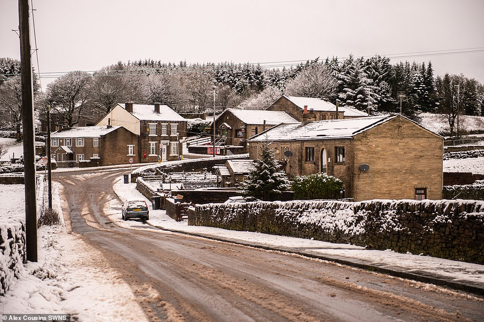 Britons including large swathes of the south wake up to winter scenes after THUNDERSNOW hits north