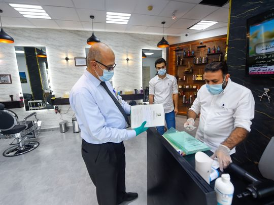 COVID-19: Look — Sharjah Municipality inspectors visit salons to check on hygiene
