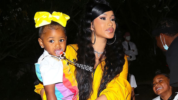 Cardi B's Daughter Kulture, 2, Is A 'Diva Like Mommy' Rocking A Head Wrap & Shades For Super Cute Photoshoot