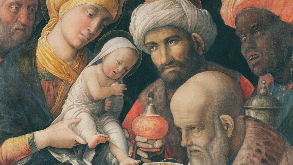 Painting on the Adoration of the Magi.