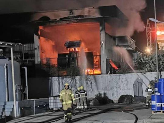 Civil Defence bring fire in Khorfakkan transformer under control