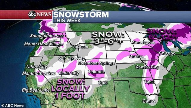 Coast-to-coast storm to hit Midwest with snow before blasting Northeast with rain on New Year's Eve