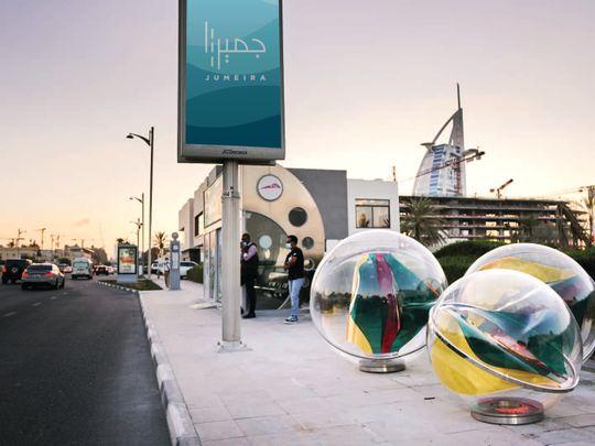 Creative artworks adorn bus stops along Dubai's Jumeirah Road