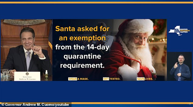 Cuomo says 'Santa is gonna be very good to me this year' because he worked hard