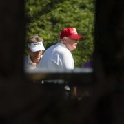 Donald Trump spotted playing golf with Bernhard Langer a week after pardoning the golfer's friend