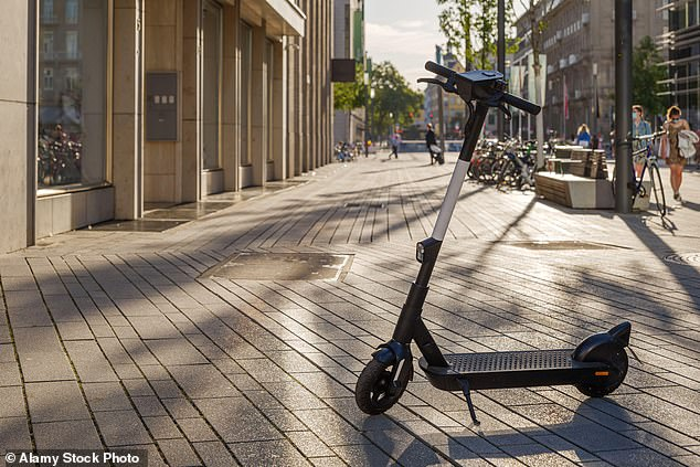 Mohamed Shardi, 22, was stopped by a routine patrol in Brixton, south London, after he was spotted riding an e-scooter (pictured: Library image) dangerously through traffic