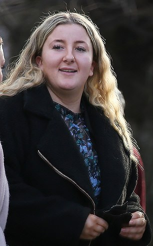 Driver, 22, celebrates with champagne after being cleared over her part in M1 crash