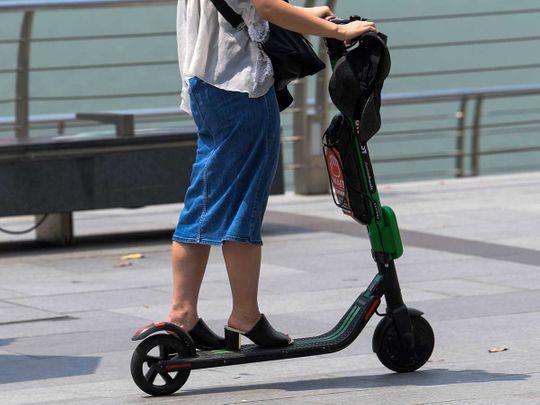 E-scooter rider caught driving against traffic dares Dubai Police