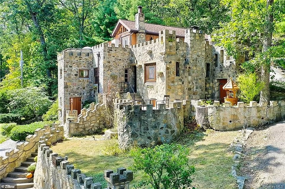 Fairy tale castle complete with stained glass windows goes on the market for $675