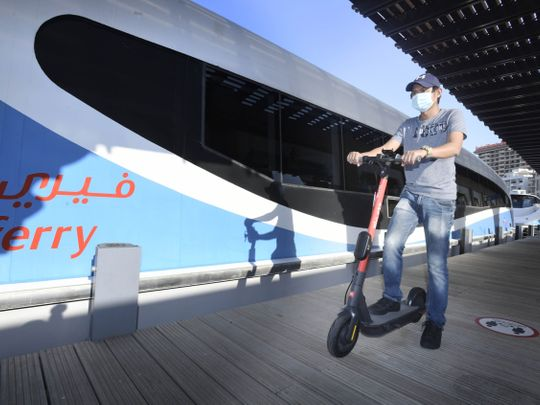Ferry riders in Dubai allowed to bring on-board their bikes, scooters for free