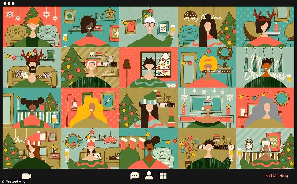 Festive brainteaser challenges puzzlers to spot the mute symbol on the Zoom call