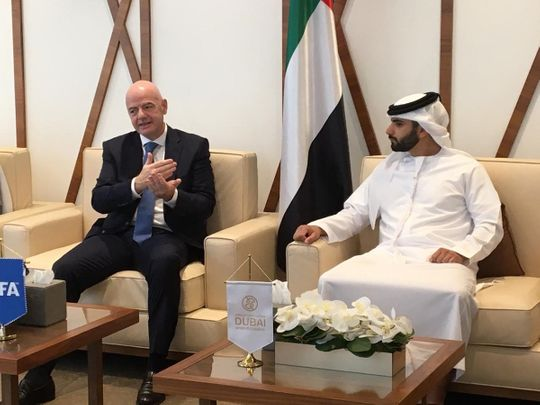 Fifa President Gianni Infantino makes a strong pitch for football in Dubai