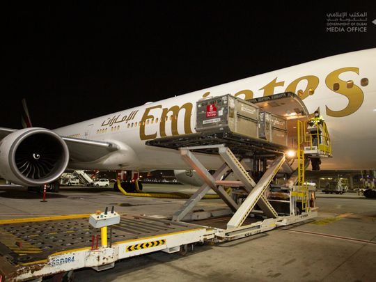 First batch of Pfizer COVID-19 vaccine arrives in Dubai on Emirates flight