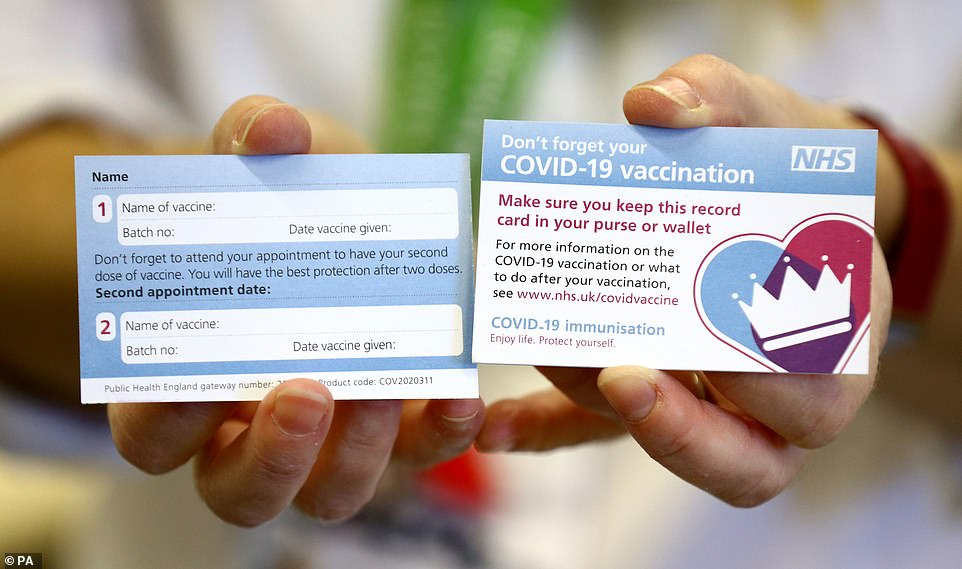 First look at new NHS Covid-19 vaccination identity card