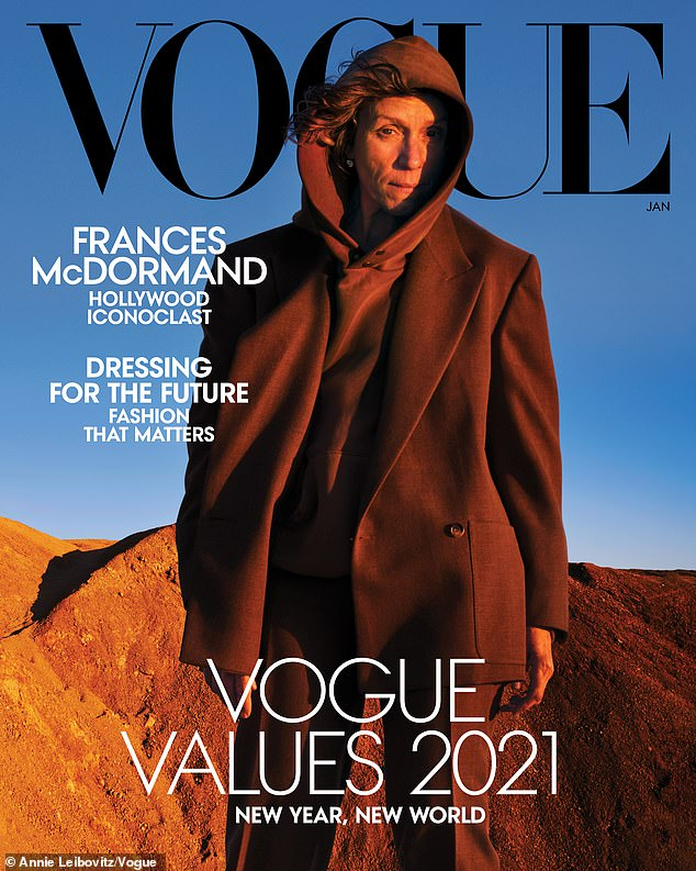 Frances McDormand says she is 'f***ing proud' to land a Vogue cover at age 63