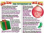 Gag about Cummings' lockdown-breaching Durham trip tops list of best Christmas jokes for 2020