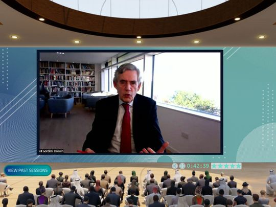 Gordon Brown calls for long-term collective change in global education