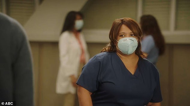 Tough: Grey's Anatomy honored the lives of victims and those affected by the coronavirus on Thursday's episode