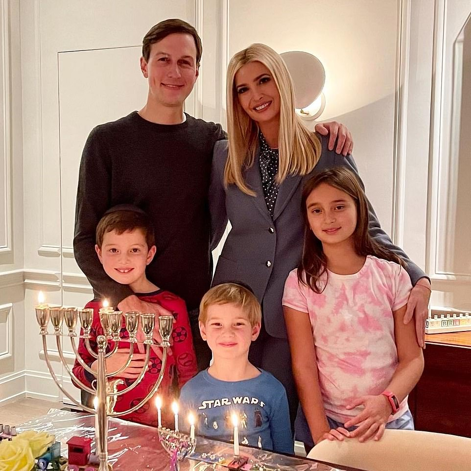 Happy Chanukah from our family to yours! Ivanka shares sweet snaps from their celebrations at home