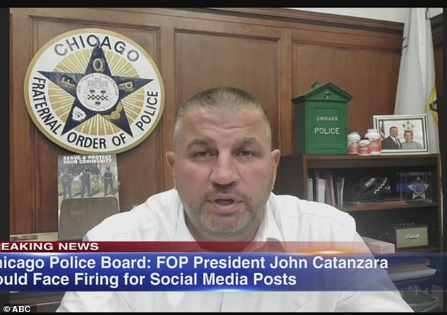 Head of the Chicago Fraternal Order of Police could be fired over inflammatory Facebook posts