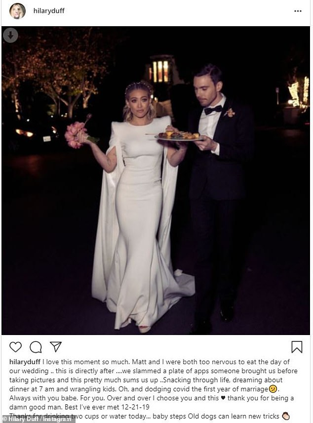 Hilary Duff celebrates first wedding anniversary to husband Matthew Koma with throwback snaps
