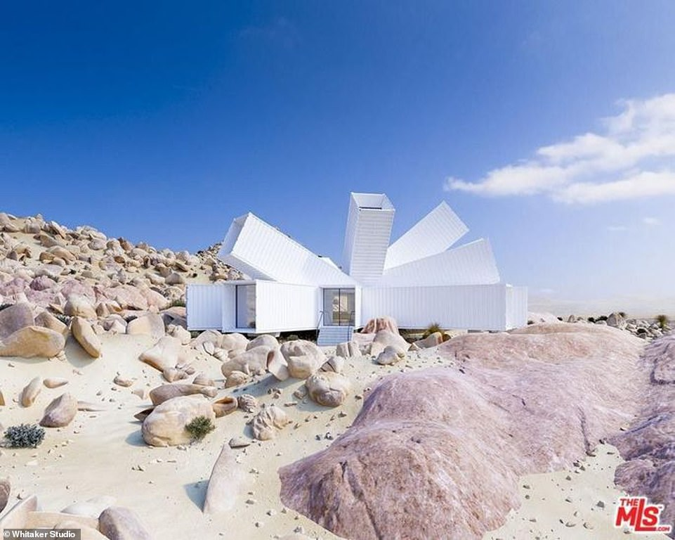 Home made from shipping containers and dubbed the 'Starburst' is selling for $3.5M in Joshua Tree