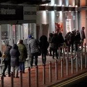 Huge shopping queues form as supermarkets airlift in European supplies