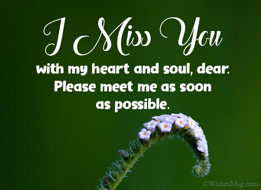 I'm Missing You Messages