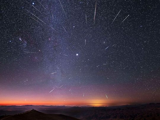 In Pictures: Spectacular meteor shower over the UAE skies from recent years