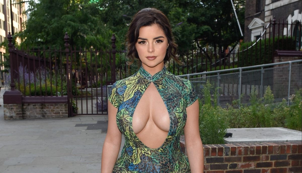 In a see-through dress, Demi Rose feeds a giraffe | The State