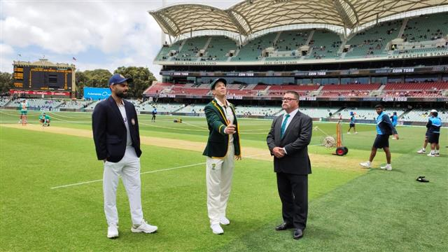 India win toss and bat against Australia in day-night Adelaide Test