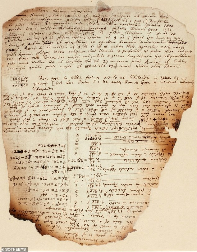 Isaac Newton's unpublished notes on the secrets of the pyramids are set to fetch a six-figure sum