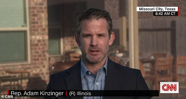 'It's a scam!' GOP Rep. Adam Kinzinger says Donald Trump is fueling 'violence' in his supporters