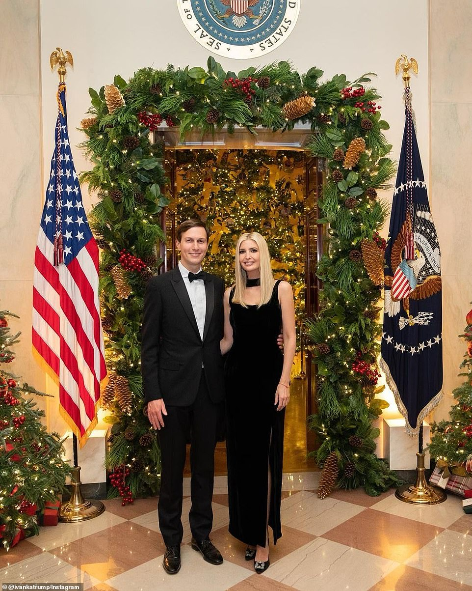 Ivanka and Jared share festive pictures together a day after Trump pardoned Kushner's father