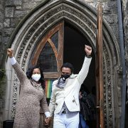 Jamaican couple leave Philadelphia church basement after 843 DAYS in hiding as ICE drop case