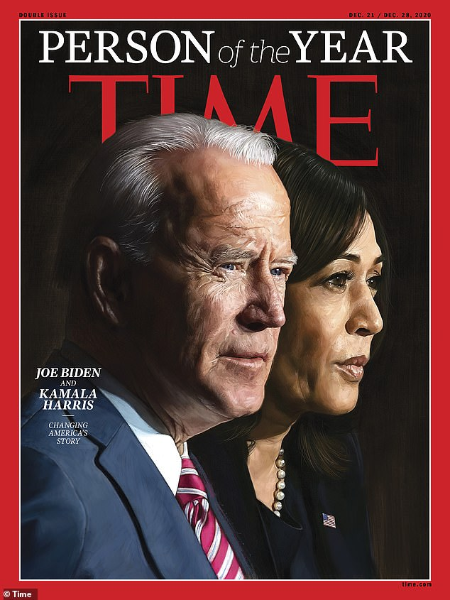 Joe Biden and Kamala Harris are awarded Time Person of the Year over Trump and frontline workers