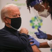 Joe Biden gets his COVID vaccine and praises Trump's operation Warp Speed for delivering shots