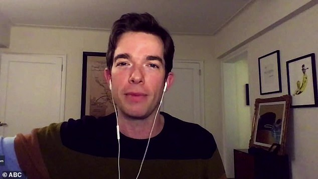 In recovery: Two-time Emmy winner John Mulaney reportedly checked into a Pennsylvania rehab last weekend for a 60-day stint to battle his cocaine and alcohol addiction (pictured December 2)