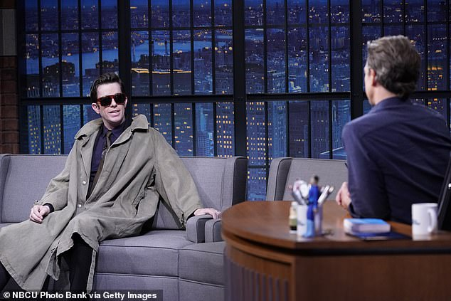 Warning signs: John Mulaney, 38, raised concerns among friends and fans following a bizarre early November appearance on Late Night With Seth Meyers, before he entered rehab this week